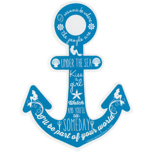 Disney The Little Mermaid Anchor Quotes Sticker   Hot Topic