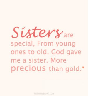 love sister picture quotes funny sister quote a sister is a little ...