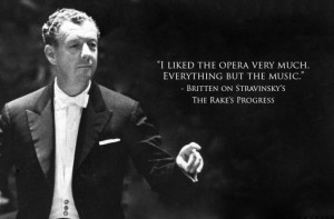 Britten on Stravinsky's The Rake's Progress - 21 AMAZING composer-on ...