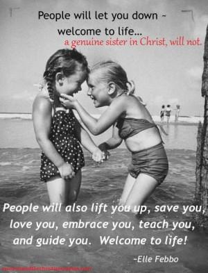 genuine sister in Christ...