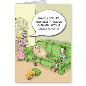 Couch Potato Funny Greeting Card