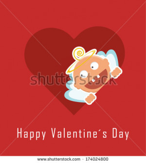 Valentine Card With Funny Cupid Valentines Day Banner Also Collection