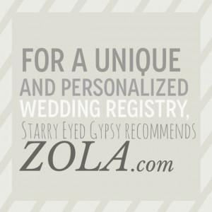 Zola: A Uniquely Personalized Wedding RegistryIdeas, Dreams, Zola ...