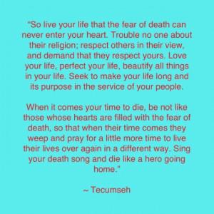 Smart man that Tecumseh :)