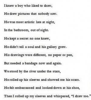 Self Harm Quotes And Poems No i do not se... self harm