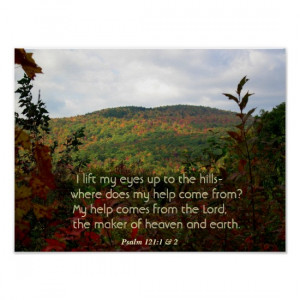 Christian Poster With Fall Foliage in the Hills Poster
