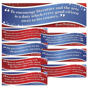 ... Posters / American Presidents Famous Quotes Bulletin Board Set