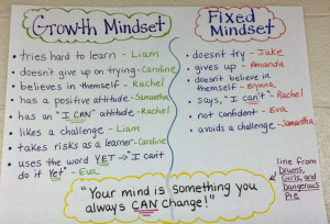 that students are referring to growth mindset and fixed mindset ...