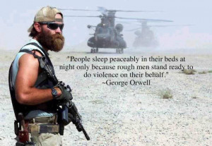People sleep peaceably in their beds at night…