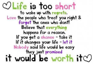 blac, forget, life, love, quote, regrets, short, sweet, text, true ...