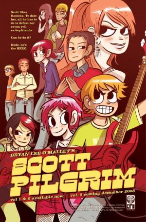 Scott Pilgrim é canadense, tem 23/24 anos e tem uma banda. Ele mora ...