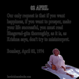Srila Prabhupada Quotes For Month April 02