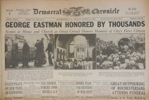 George Eastman Honored By Thousands