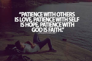 practice patience and faith