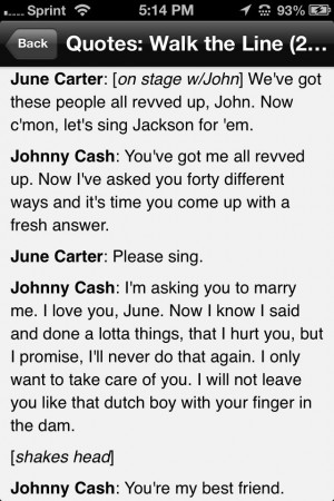 Walk the Line quotes