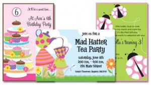 ... some of our most popular birthday invitations for girls and tweens