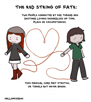 Red string of fate: Gods tie an invisible red string around the ankles ...