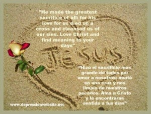 He made the greatest sacrifice of all: for his love for us died on a ...