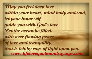 ... your heart mind body and soul let your inner self guide you in god