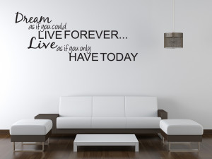 Details about DREAM LIVE Girls Teen Bedroom Vinyl Wall Quote Art Decal ...