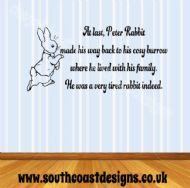 Beatrix Potter Peter Rabbit amp Quote Wall Sticker Design 1