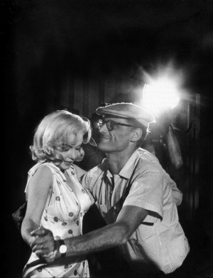 Eve Arnold: US actress Marilyn Monroe with Arthur Miller showing her ...