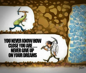 Never Give Up Picture Quote