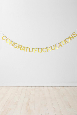 urban outfitters: congratulations party banner. $14.00