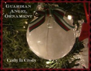Crafty In Crosby: Guardian Angel Ornament with Printable Label