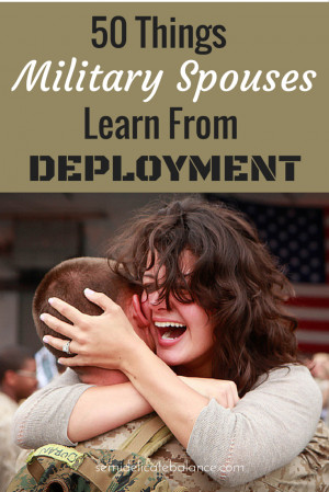 """... deployment? """" Here are the responses of 50 military spouses"""