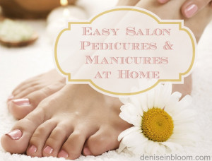 ... you will try your own salon style pedicures and manicures at home