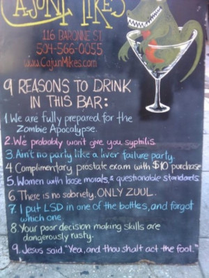 40 Funny and Creative Chalkboard Bar Signs, funny bar signs, funny ...