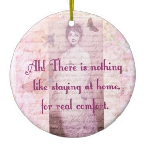 Famous Jane Austen quote about home sweet home Christmas Tree Ornament