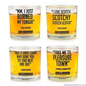 ... shot glasses in the world...aside from other Anchorman shot glasses