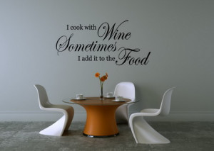 Wine Motivational Quotes Wall Decals Art for Living Room Decorating ...