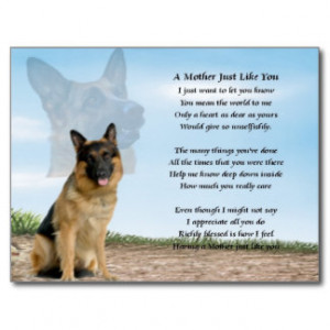 Mother Poem German Shepherd...