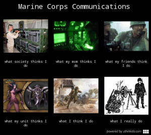 Marine corps communications - What people think I do, What I really do