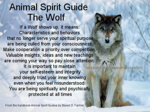 The Wolf spirit guide