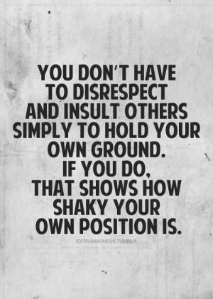 disrespect | Tumblr