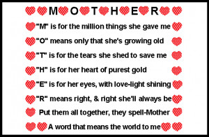 is for Mother quote. Famous Mother's Day Quotes.