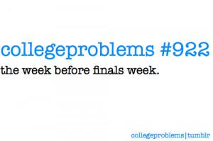 college finals problems education college problems university