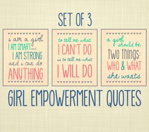Women Empowerment Quotes Girl empowerment quote art,