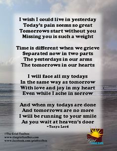 your smile a poem the grief toolbox more grief toolbox i miss you ...