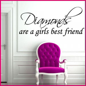 ... ARE A GIRLS BEST FRIEND GIRLY WORD ART ~ Wall sticker / decals