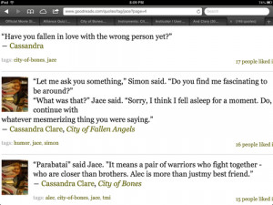 Mortal instruments, jace and Simon :) funny