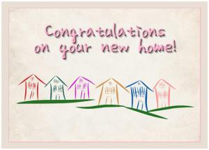 Congratulations New Home Greeting Card Digital Art