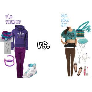 fashion tomboy outfit tomboy vs girly girl created by thadopestkidd 4 ...