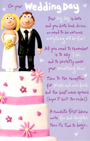 Cute Happy Ever After Wedding Day Greeting Card Preview