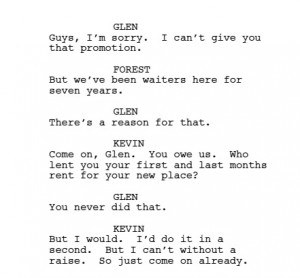 ... and my character pitch a business idea in the beginning of the movie