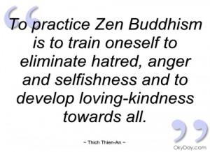 to practice zen buddhism is to train